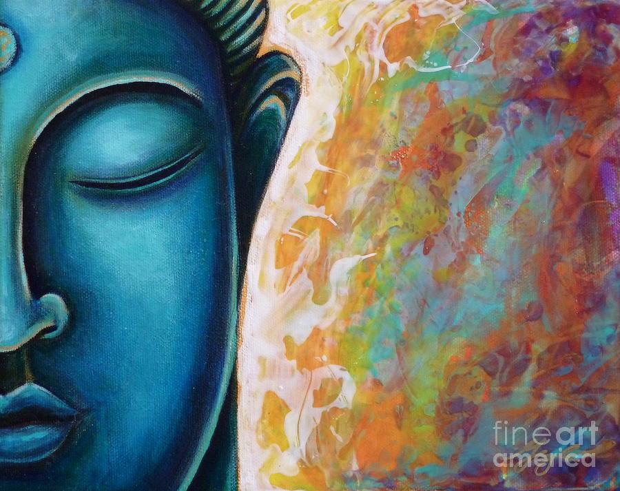 Buddha Painting - Blue Buddha by Gayle Utter