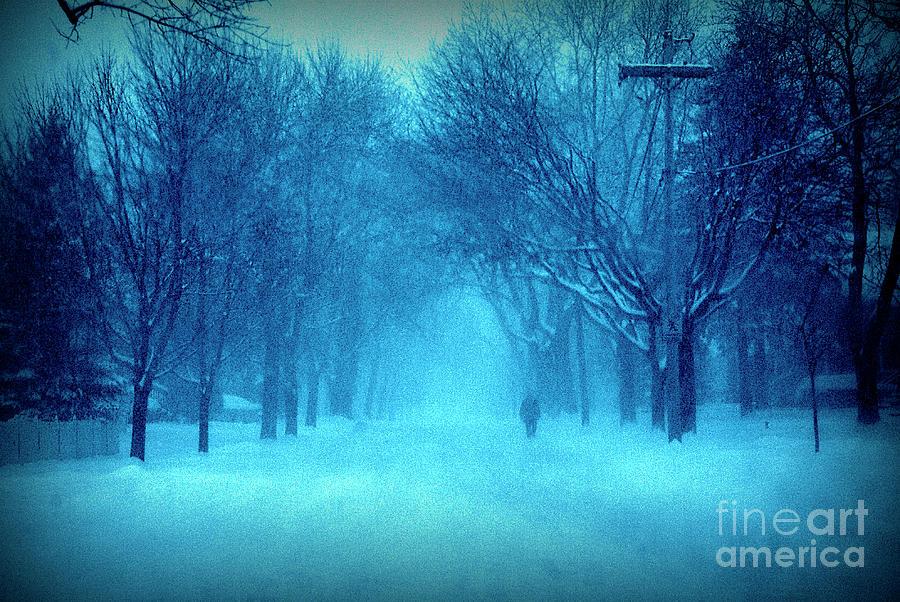 Blue Chicago Blizzard Photograph