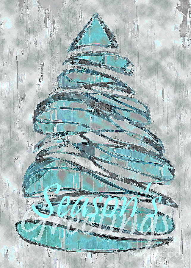 Blue Christmas, 5x7 Season's Greetings by Banyan Ranch Studios