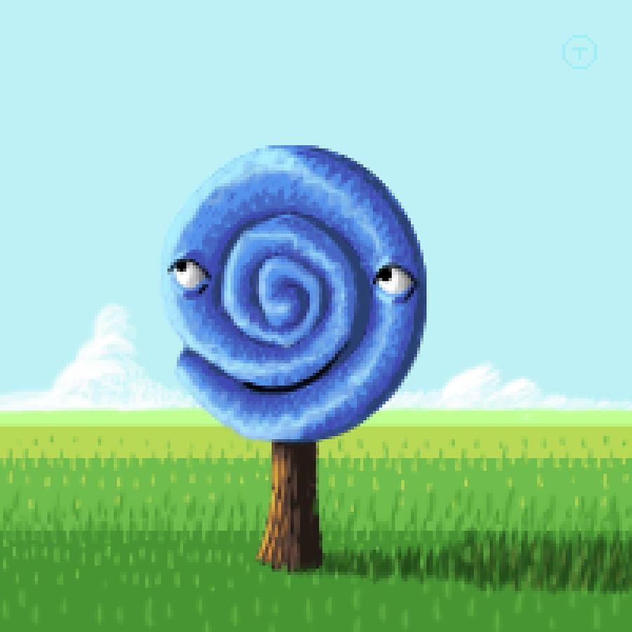 Blue Circle Tree by Thomas Olsen