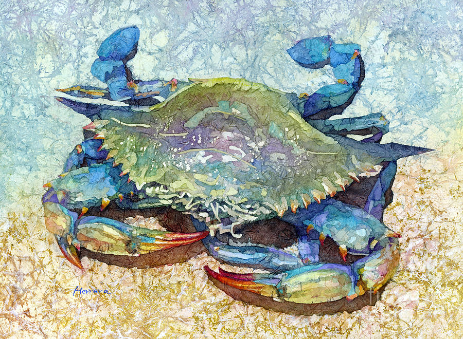 Blue Crab-pastel Colors Painting