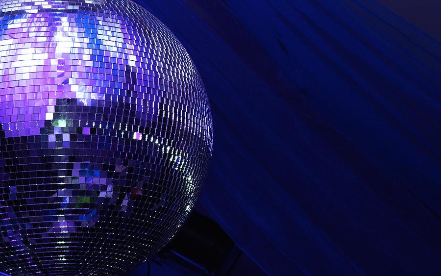 Blue Disco Glitterball Sphere Photograph by Arnospaansen