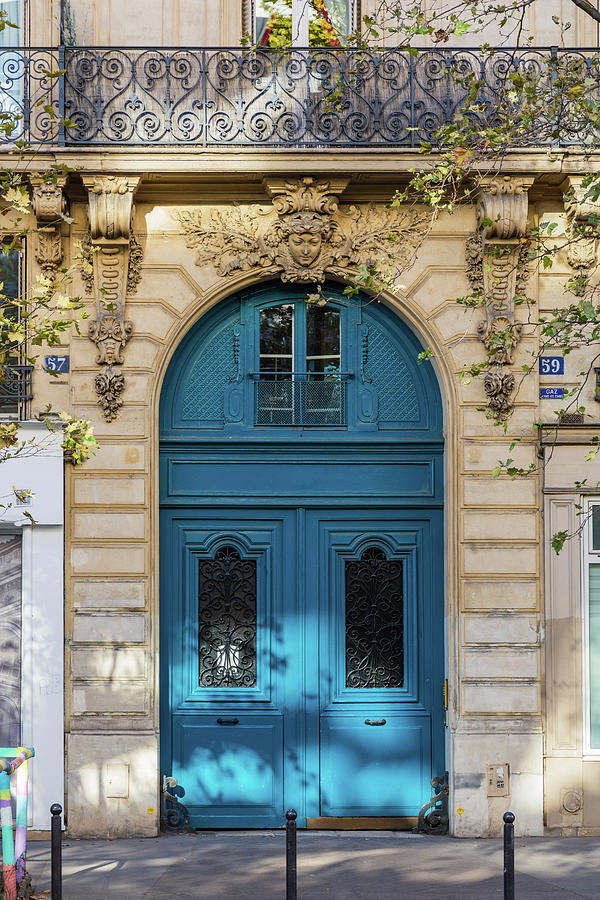 Blue Door In Paris Photograph
