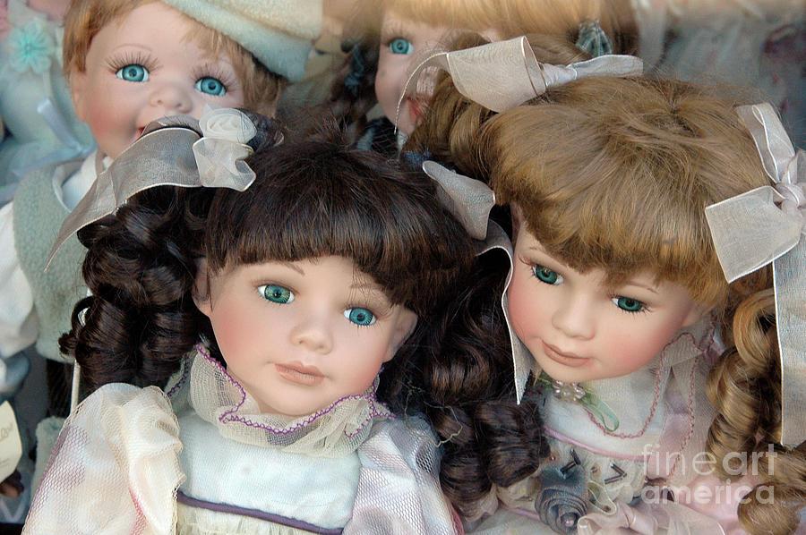 Dolls Photograph - Blue Eyed Dolls, 2005 by Michael Ziegler