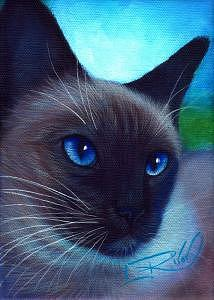 Whimsy Painting - Blue Eyes by L Risor