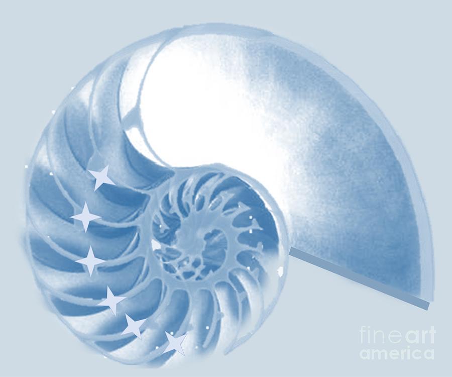 Blue Fractal Digital Art