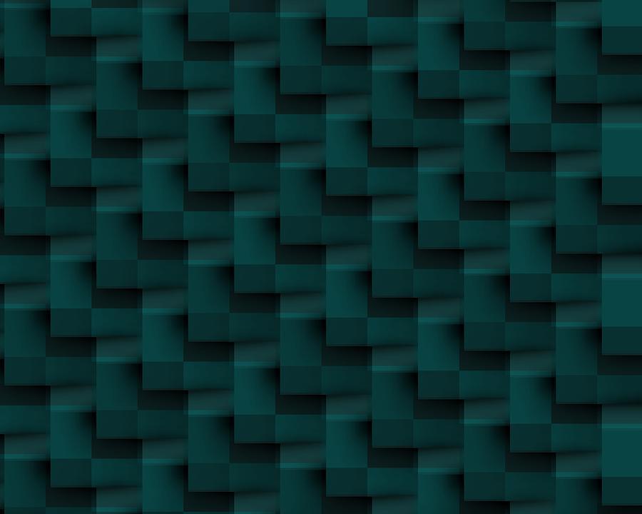 Blue Geometric Background Digital Art