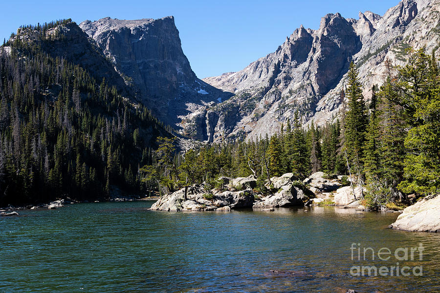 Blue Green Emerald Lake In Rocky Mountain National Park Photograph