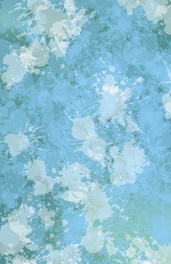 Blue Grunge Paint Stain Digital Art