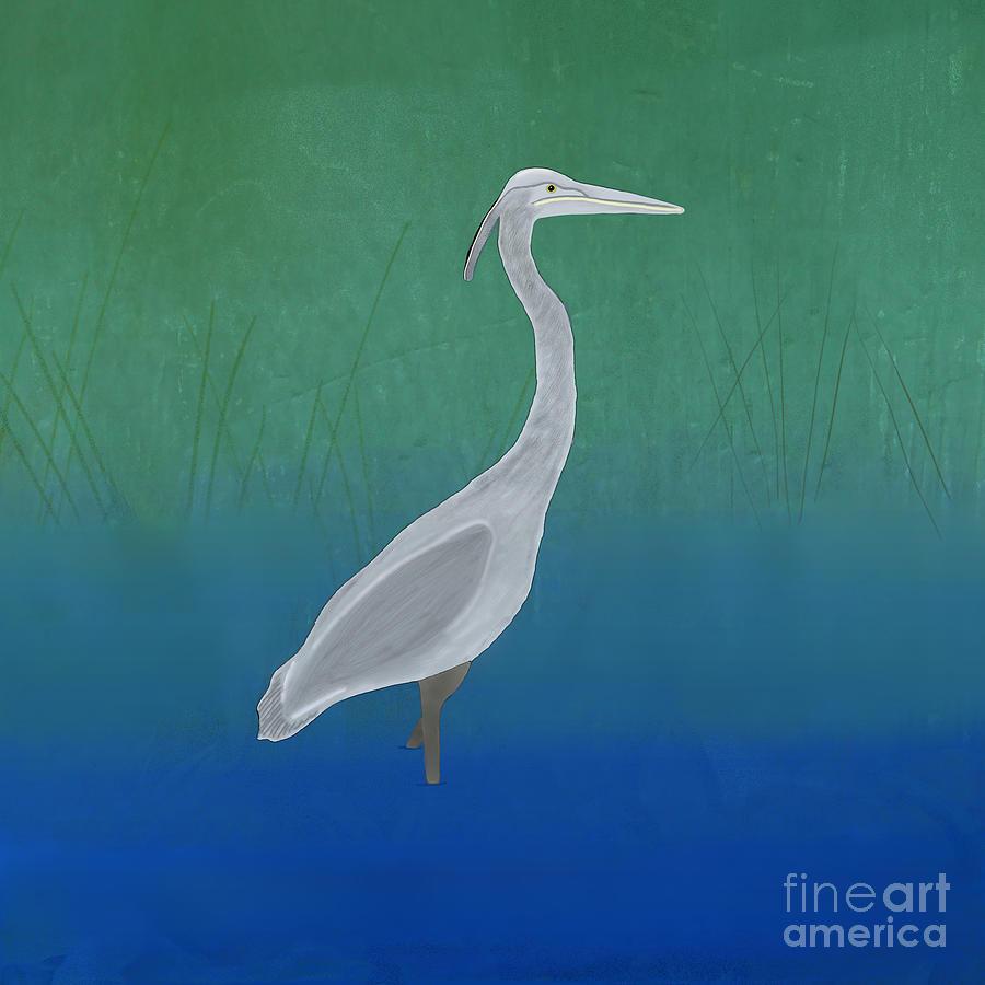 Blue Heron Digital Art