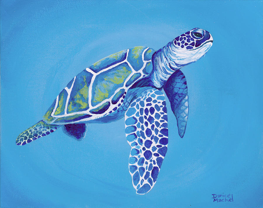 Blue Honu by Darice Machel McGuire