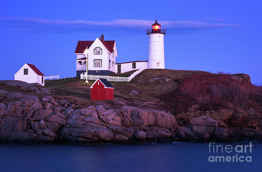Blue Hour at Nubble Light by Sharon Seaward