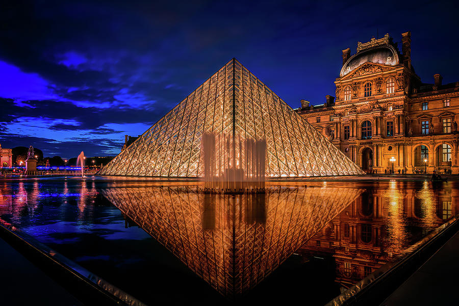 Blue Hour at the Louvre by Kevin McClish