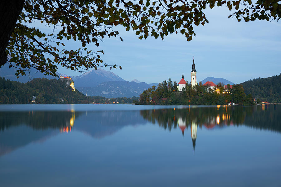 Blue hour in Bled by Yuri San