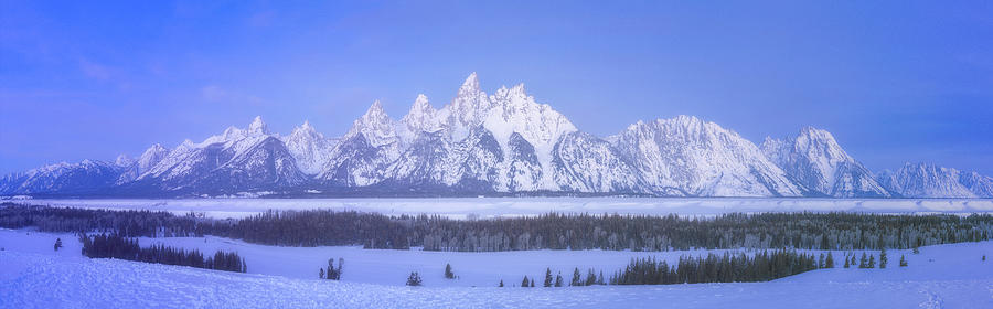 Blue Hour In The Tetons Photograph