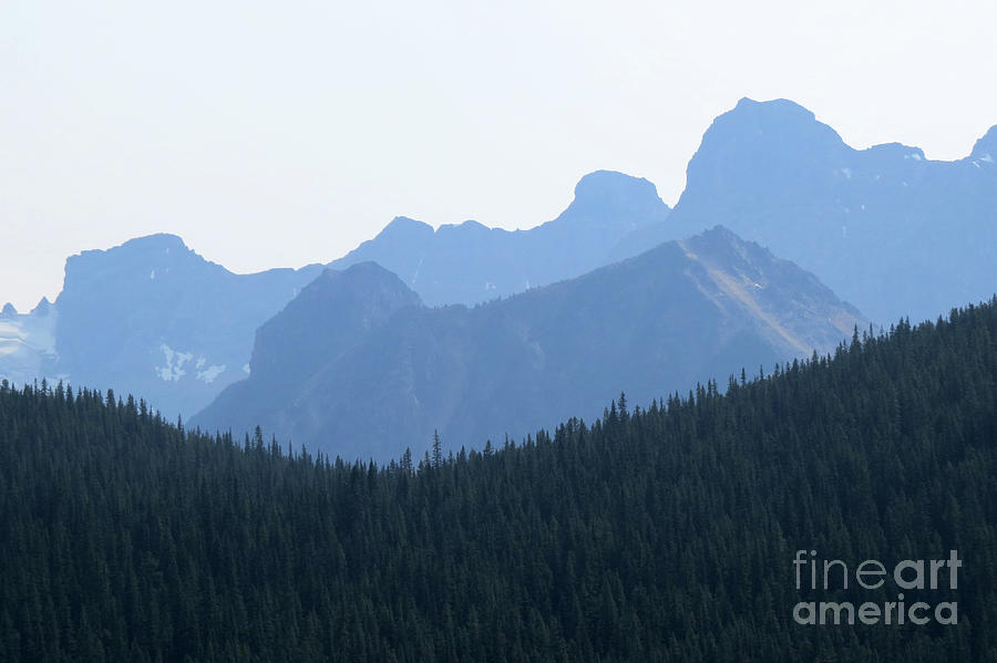 Scenic Photograph - Blue Hue Mountains by Mary Mikawoz