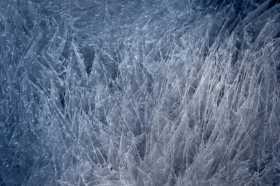 Blue Ice Crystals Photograph