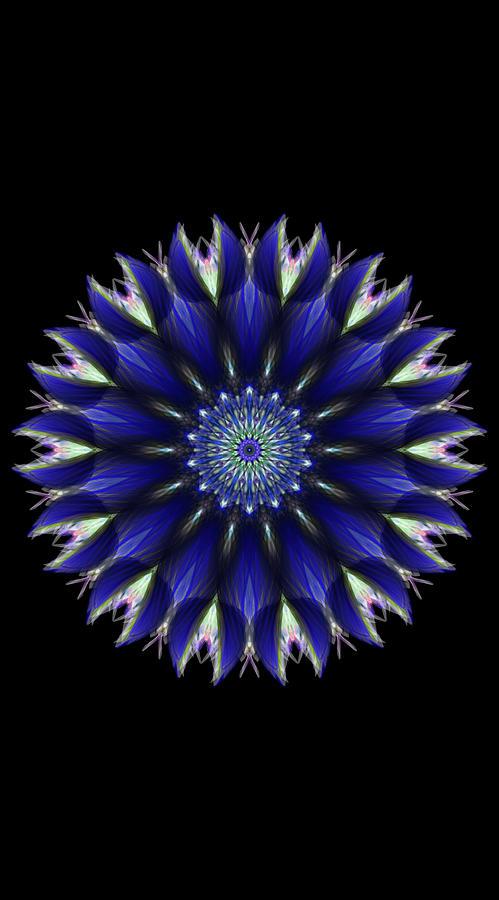 Blue Ice Mandala Digital Art