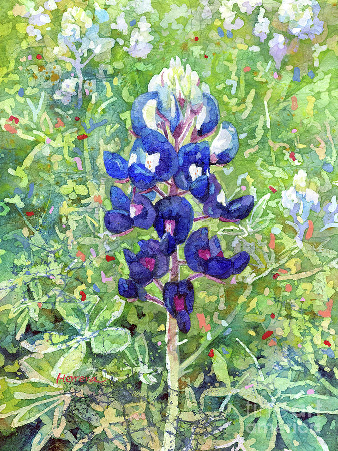 Blue In Bloom 2-pastel Colors Painting