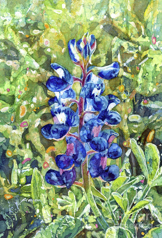 Blue In Bloom-pastel Colors Painting