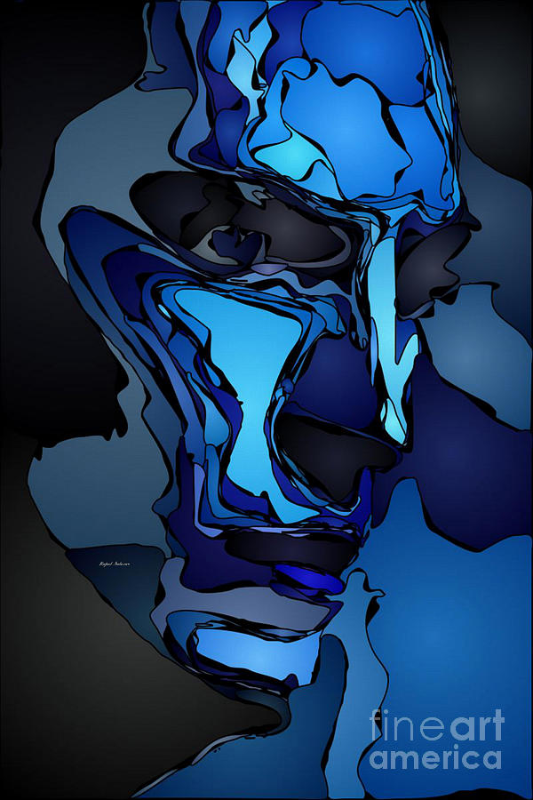 Blue Is The New Black Painting