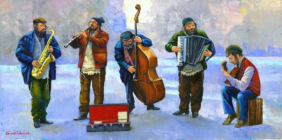 Blue Jewish musician  by Gadi Dadon