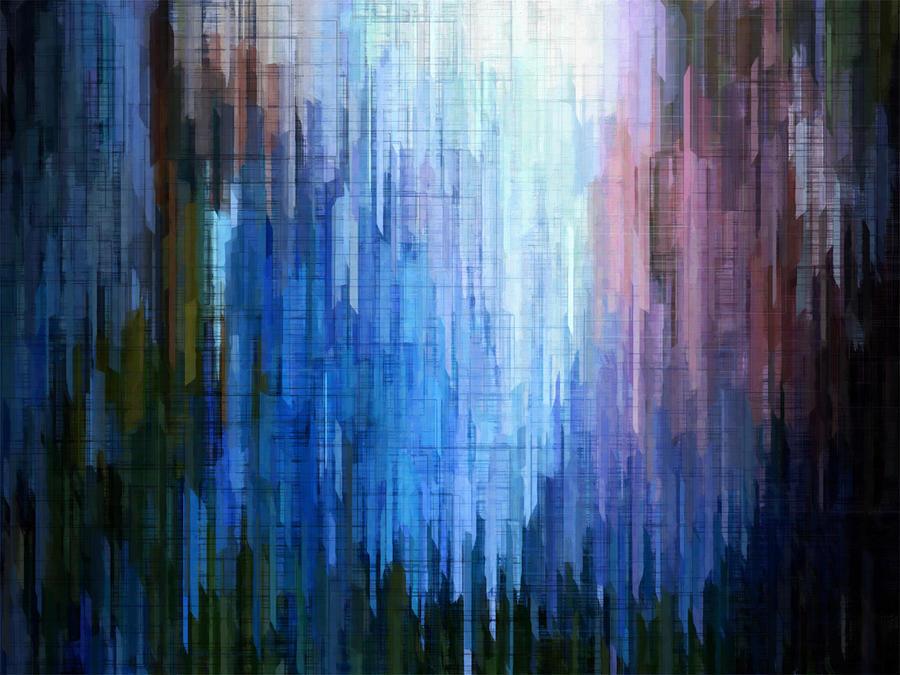 Blue Mesa 3 Digital Art by David Hansen
