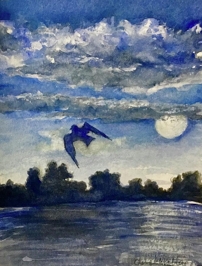 Heaven Painting - Blue Moon by Cheryl Wallace