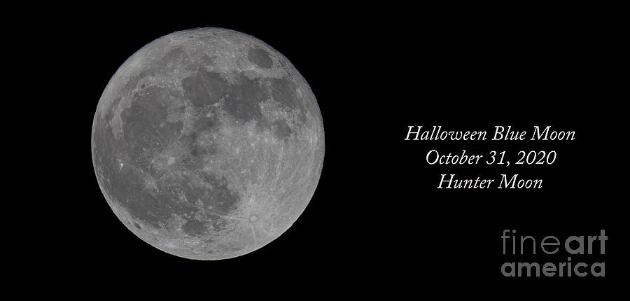 Blue Moon - Halloween 2020 Photograph