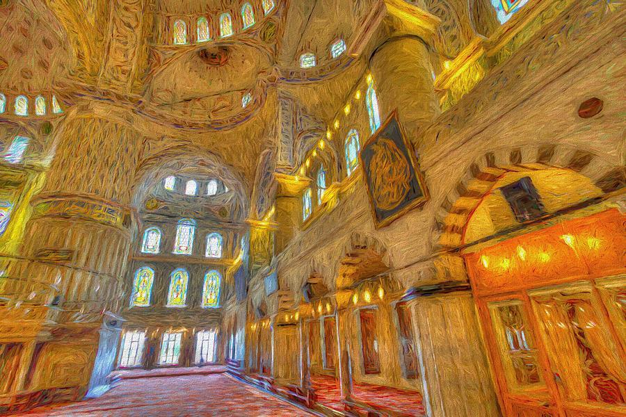 Blue Mosque Istanbul Art Photograph
