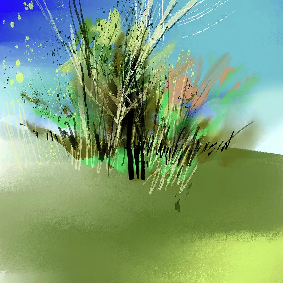Blue N Grey Digital Art