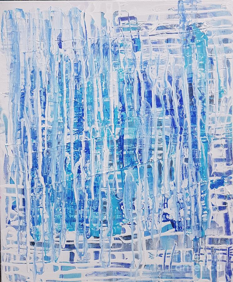 Blue n White Painting by Andy Thompson