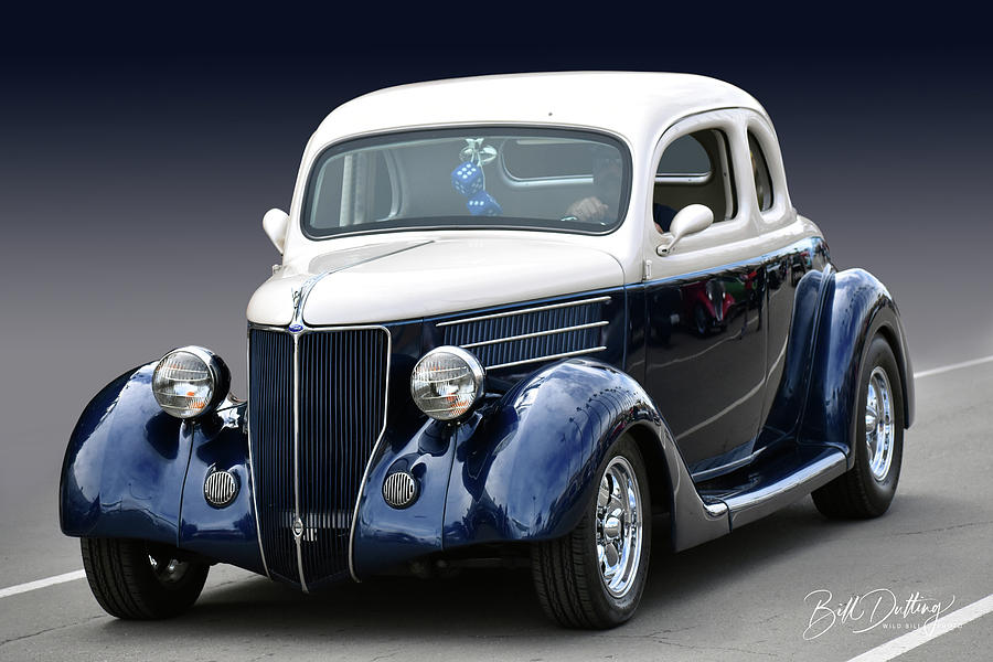Blue n White Coupe by Bill Dutting