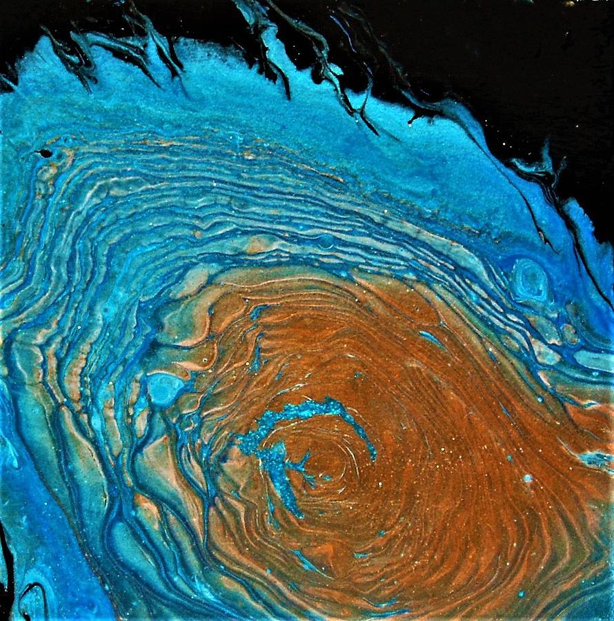 Blue Nebula Painting
