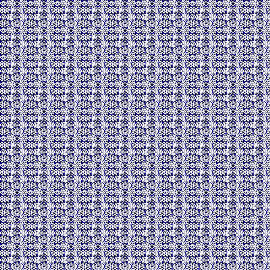 Blue Pattern 44 By Kristalin Davis Digital Art
