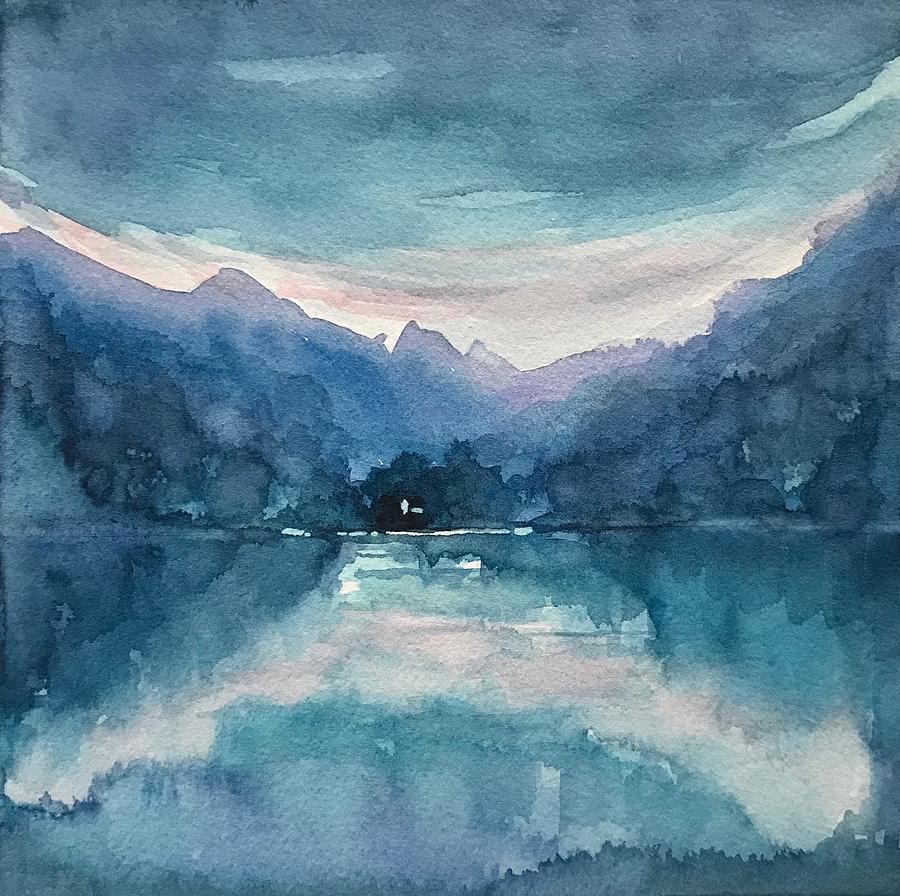 Blue Reflection. Painting