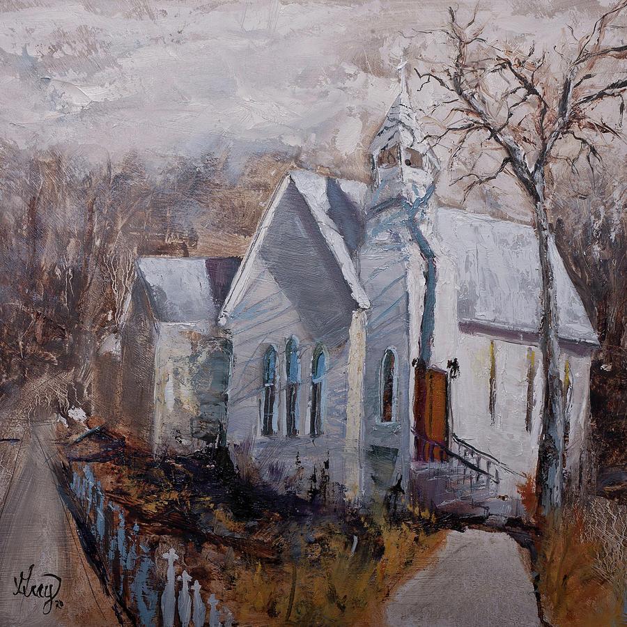 Blue Ridge Mountain Chapel Painting