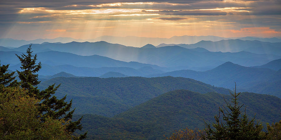 Blue Ridge Mountain Panoramic by Adam Romanowicz