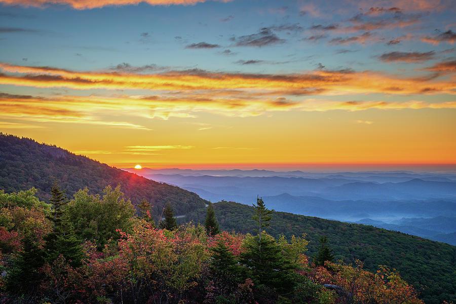 Blue Ridge Mountain Sunrise by Mike Koenig