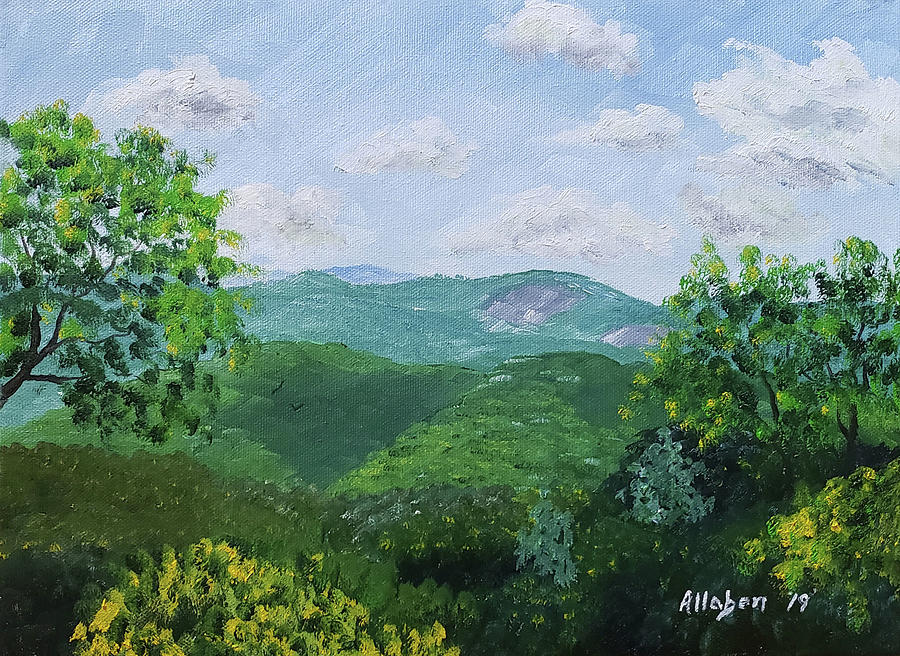 North Carolina Painting - Blue Ridge Mountains by Stanton Allaben