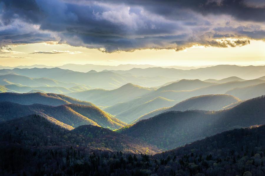 Mountains Photograph - Blue Ridge Parkway NC Drama And Light by Robert Stephens
