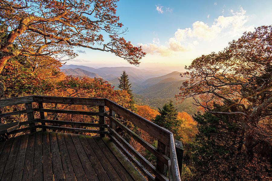Landscape Photograph - Blue Ridge Parkway North Carolina Autumn Pastels by Robert Stephens