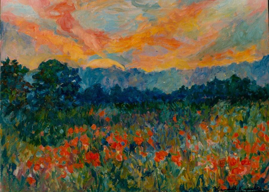 Landscape Painting - Blue Ridge Sunset by Kendall Kessler