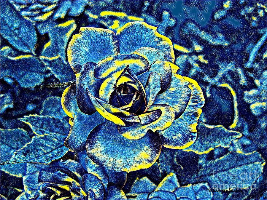 Blue Rose Digital Art