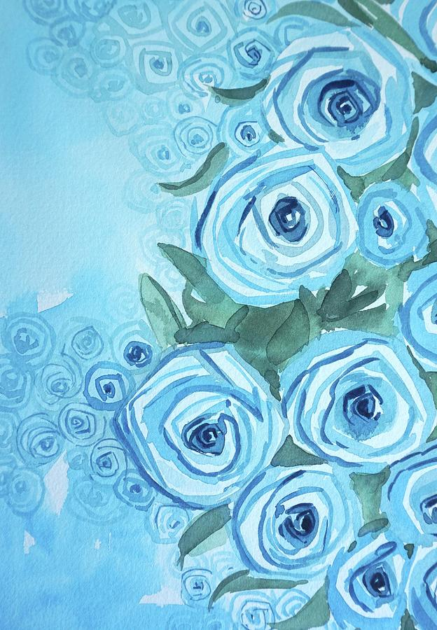 Blue Roses Painting
