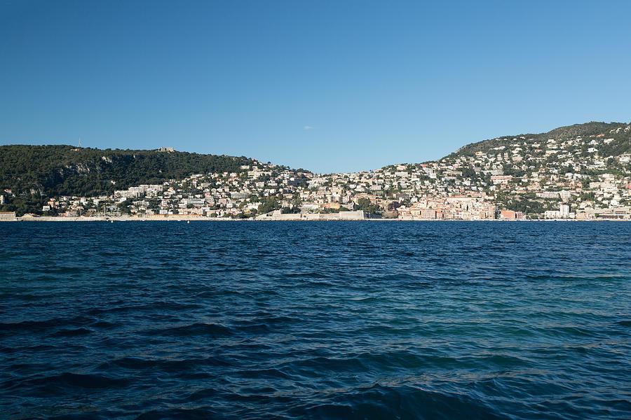 Blue sea in front of Saint-jean cap Ferrat city Photograph by Jean-Marc PAYET