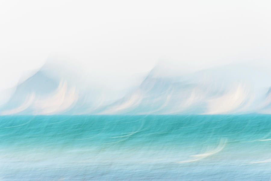 Blue Seascape Abstract Photograph