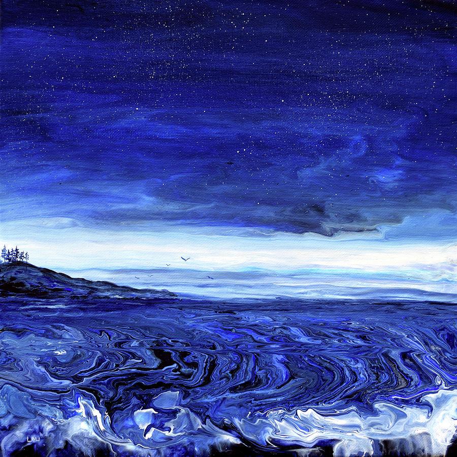Blue Seascape Painting