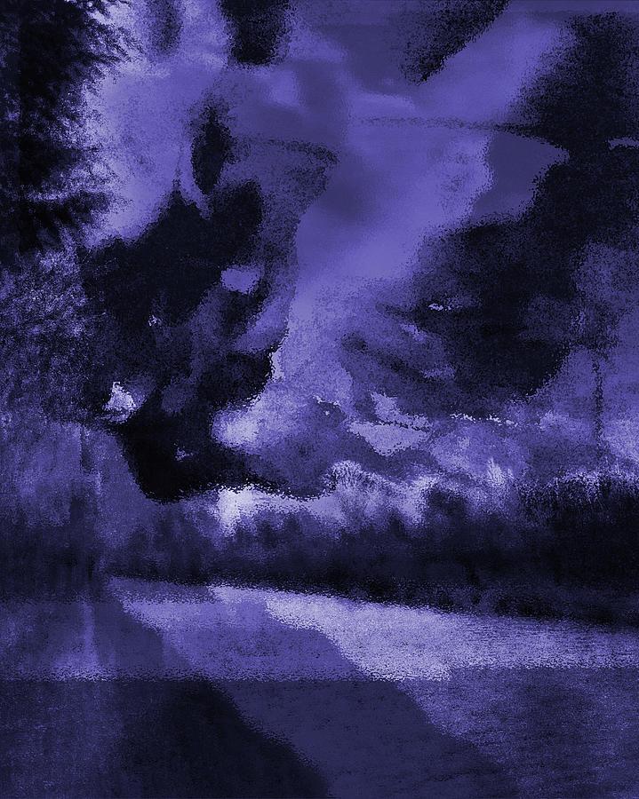 Landscape Photograph - Blue Semi-Abstract Landscape by Itsonlythemoon