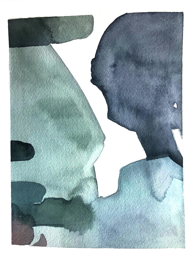 Blue Shapes Painting